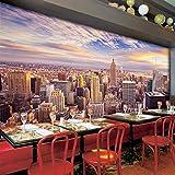 Papel tapiz fotográfico 3D personalizado decoración del hogar sala de estar de la ciudad de Nueva York sofá dormitorio TV papel tapiz de fondo Murales fondo 3D