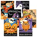 Happy Haunting Halloween Greeting Cards - Set of 12, Themed Holiday Card Variety Pack, Assortment of 6 Unique Designs, Large 5 x 7 Inch Size, Envelopes Included