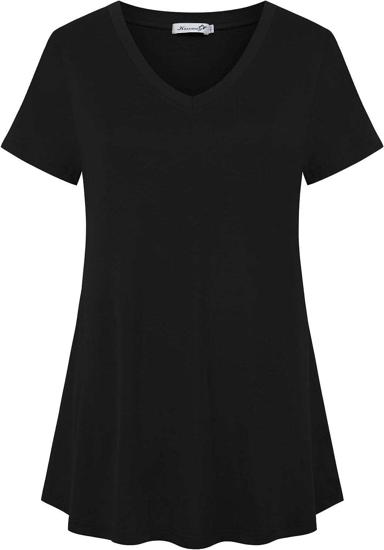 kissmay Women Plus Size Shirts Casual Short Sleeve Summer Dressy Tunics Tops