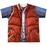 Back To The Future 80 Syfy Marty's Red Vest Costume Big Boys Front Print T-Shirt