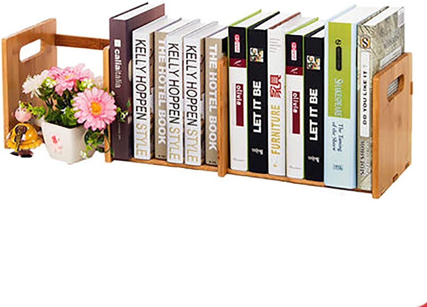 Adjustable Bookcase,Space Saving Small and Refined Bookshelf Desktop Storage Organizer Shelves Simple File cabinets-A4 51  21  19cm(20  8  7in)