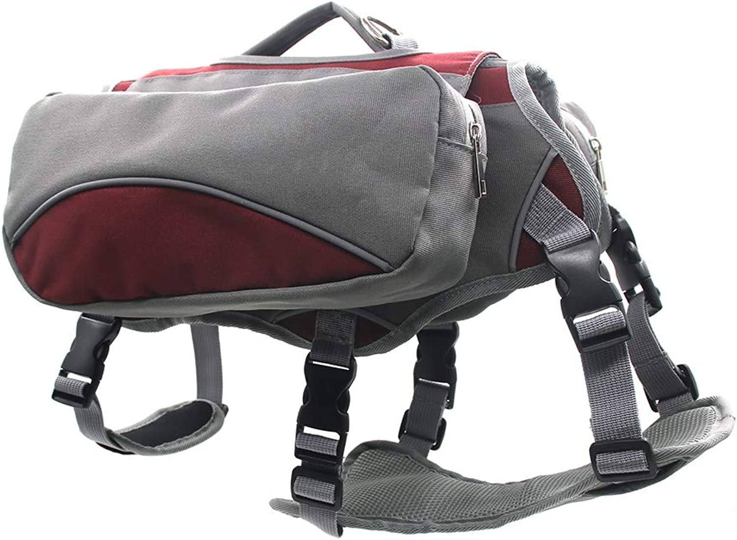 Breathable Pet Travel Backpack,Dog Saddle Bag Harness Can be Disassembled Different Way of Using Breathable mesh Reflective Strip Design Used for pet