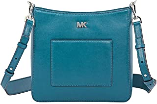 Michael Kors Gloria Polished Leather Pocket Swing Pack Altman Charm - Luxe Teal