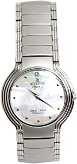 Casual Watch for Unisex by Accurate, Silver, Round, AMQ449