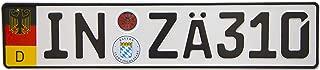 International Tie European German Euro License Plate with Random Numbers (Ingolstadt)