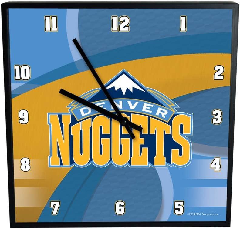 NBA Denver Nuggets Official Carbon Clock Square Max 86% Ranking TOP16 OFF Multicolo Fiber