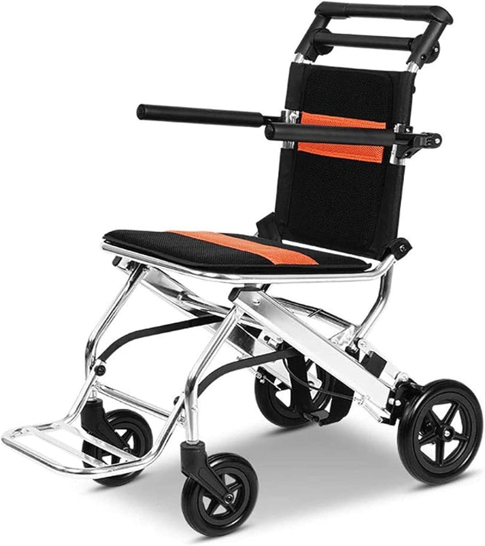 JmeiYyu Transport Wheelchairs Portable Folding Trav Wheelchair Outlet ☆ Free Super intense SALE Shipping