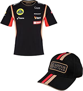 T Shirt & Cap Formula One 1 Lotus F1 Team PDVSA Sponsor 2014/5