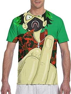 Men`s Boys Short Sleeve Crewneck Shirt Fashion Cool Fit Workwear Tops