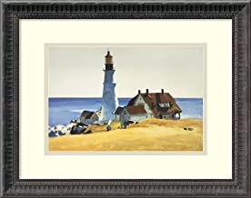 Framed Wall Art Print Lighthouse and Buildings, Portland Head, 1927 by Edward Hopper 18.00 x 14.50