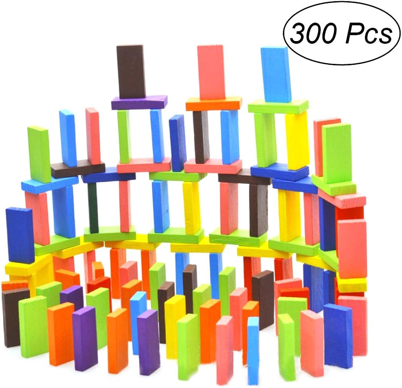 TOYMYTOY Dominosteine Bunte Holz Bausteine Spielzeug Bodenspiel 300 Stücke B078WPXLG8 Am wirtschaftlichsten  | Hat einen langen Ruf