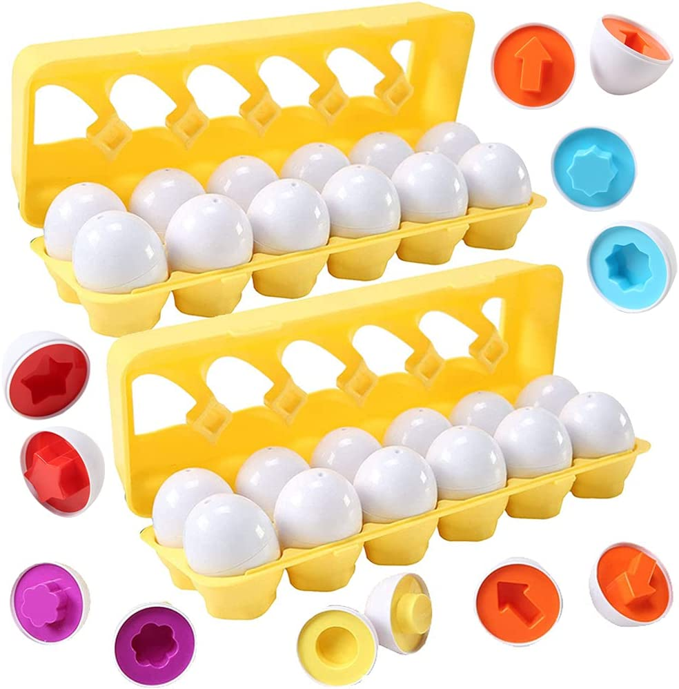 2 Sets of Dimple Fun Egg Matching Phoenix Mall Toddler Eggs - Toy Bargain sale Total 24