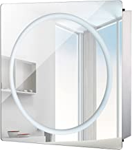 "HomCom LED Ring Sliding Bathroom Mirror/Medicine Wall Cabinet (28"" x 24"")"