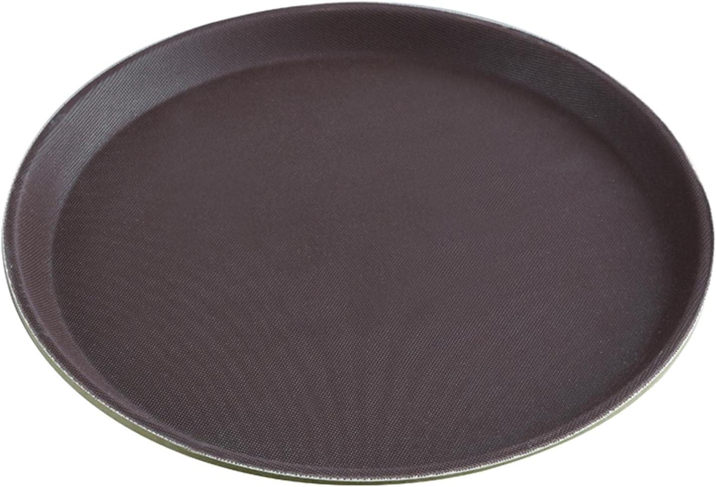 DELITLS 2 bandejas redondas antideslizantes para servir, bandeja para servir vajilla, barra de cocina para el hogar, utensilios de cocina, bares y restaurantes (tamaño: 40 cm)