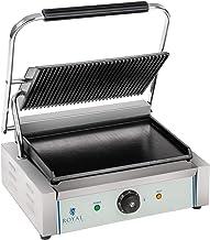 Royal Catering RCKG-2200 Contactgrill Geribbelde Bovenplaat Geïntegreerde Thermostaat 2200W 30-300 °C Professionele Grill ...