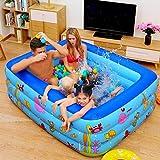 ARTF Familia rectangular inflable de la piscina, de gran tamaño infantil Kids inflable cuadrado de piscina de verano preservación del calor inflable Bañeras Piscina for niños for el jardín al aire lib