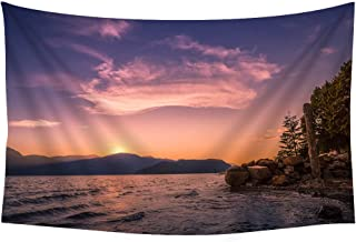 Canada Harrison Lake Beautiful Landscape 07 - Wall Tapestry Art For Home Decor Wall Hanging Tapestry 60x40 Inches