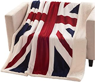 Brandream Super Soft Fleece Blanket British Flag Throw Blankets Teens Boys Adults Cuddling Blankets 51 X63