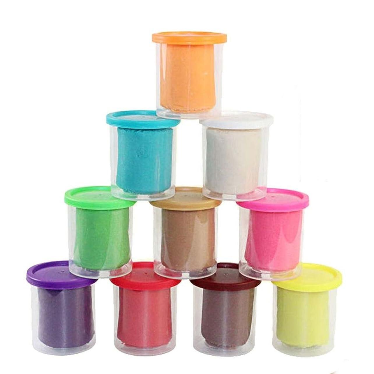 深遠貞後者newkellyレインボー10個入りDIY Slime Crafts粘Mudモデリングポリマー粘土空気乾燥粘ゴム泥for Kids & Adult応力releasetoy