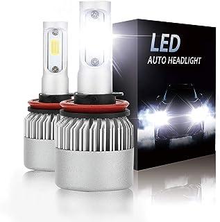 H11 (H8,H9) LED Headlight bulbs 8000LM 6500K Extremely Bright Car Headlamp Bulbs Conversion Kit (2-Pack)
