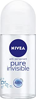 NIVEA Pure Invisible Roll On Anti-Perspirant Deodorant, 50ml