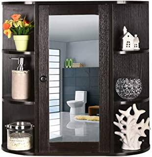 OKIDA Bathroom Wall Mounted Cabinet, Toilet Bathroom Spacesaver, Multipurpose Kitchen Medicine Storage Organizer with Sing...