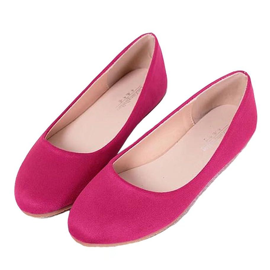 賭け牽引きらめく【ユウエ】パンプス レディース フラットパンプス ローファー ローヒール ぺたんこ フラットシューズ 婦人靴 大きいサイズ 痛くない 014-xz-668-1(33 ローズ)