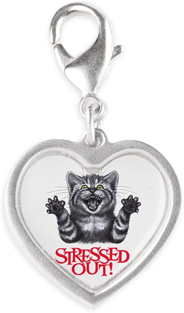 Cheap mail order sales Royal Sale SALE% OFF Lion Silver Heart Charm Out Stressed Cat