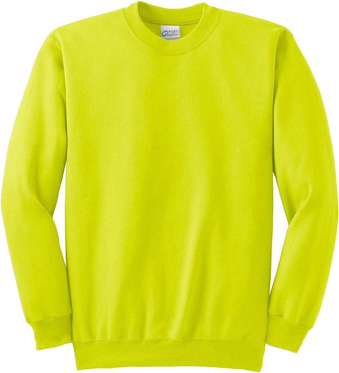 Port & Company Tall Ultimate Crewneck Sweatshirt>4XLT Safety Green PC90T