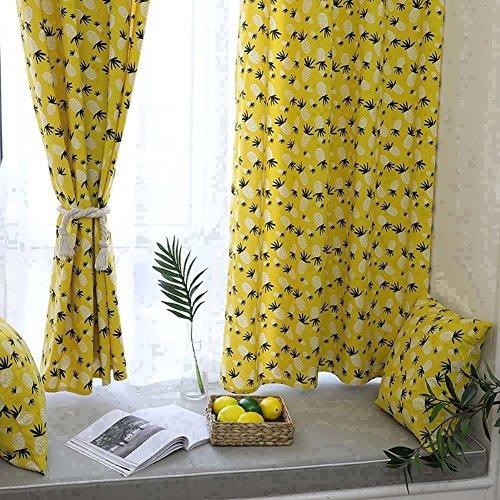 rideau accessoire jaune