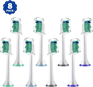 Replacement Toothbrush Heads for Phillip Sonicare e-Series HX-Series, Compatible With Phillip Sonicare Advance, Elite, Essence, Xtreme and More Snap-On Brush Handle for Sonicare Electric Toothbrush