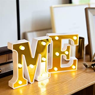 ZNBG Letters LED Luminous 26 English Alphabet Lamp Marry Happy Birthday Christmas Party Wedding Valentines decoration Nigh...