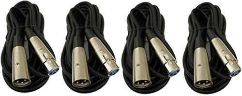 popular ANiceSeller 4Pcs sale PACK discount 25FT XLR 3Pin Male to Female Mic Microphone Extension Audio Mixer Shielded Cable outlet online sale