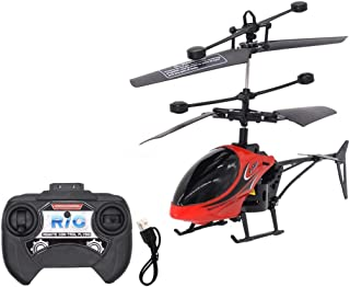Hemlock RC Helicopter, Remote Control Helicopter Kids Toy 2CH Gyro Helicopter RC Drone Children Boys Toys Gifts (Red)