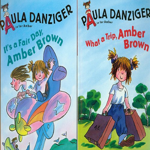 'It's a Fair Day, Amber Brown' and' What a Trip, Amber Brown' audiobook cover art