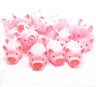 Meeall Pig Bath Toy, Rubber Pig Baby Bath Toy for Kids, Pig Decorations, 20 PCS