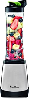 MOULINEX 0.6 Litre Personal Blender, Silver/Clear, Stainless Steel, LM1A0D27