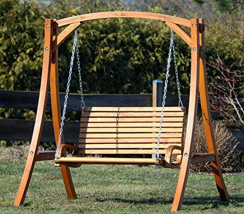 Design Hollywoodschaukel Gartenschaukel Hollywood Schaukel KUREDO-OD aus Holz Lärche von AS-S - 5