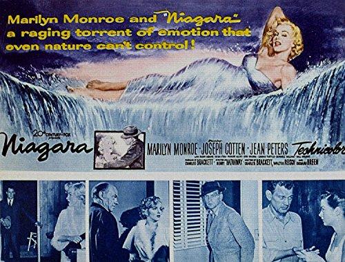 Niagara, Marilyn Monroe, Joseph Cotten, Jean Peters, 1953 - Foto-Reimpresión película Posters 32x24 pulgadas - sin marco