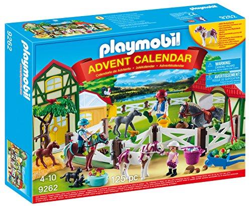 PLAYMOBIL Calendario de Adviento Granja de Caballos, A partir de 4 años (9262)