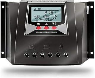 SolaMr 50A Controlador Solar de Carga 12V/24V/36V/48V Voltaje de Identificación Automática Regulador Inteligente con Pantalla LCD para Sistemas Solares Domésticos - WP5048D