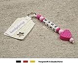 NAMENSANHÄNGER - Anhänger mit Namen - Baby Kinder Schlüsselanhänger für Wickeltasche,...