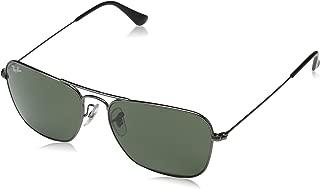 RB3136 Caravan Square Sunglasses, Gunmetal/Green, 58 mm