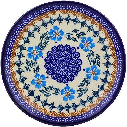 Polish Pottery Dessert Plate 7-inch (Blue Cornflower Theme)
