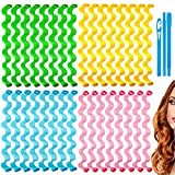 32 Pieces Hair Curlers 17 Inch Wave Formers...
