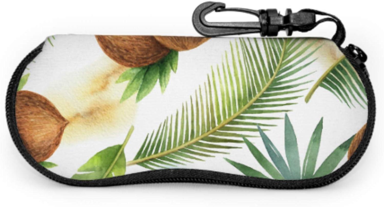 Half Ripe Coconut Sunglass Holder Case Case Eyeglasses Light Portable Neoprene Zipper Soft Case Female Sunglass Case