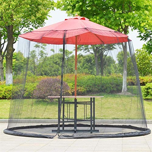 REWD Pantalla de Cubierta Neta Paraguas, Pantalla de Mesa de Mesa de jardín Exterior Parasol Cubierta de mosquitera, con Cremallera - Excluyendo Paraguas y Base (Color : M)