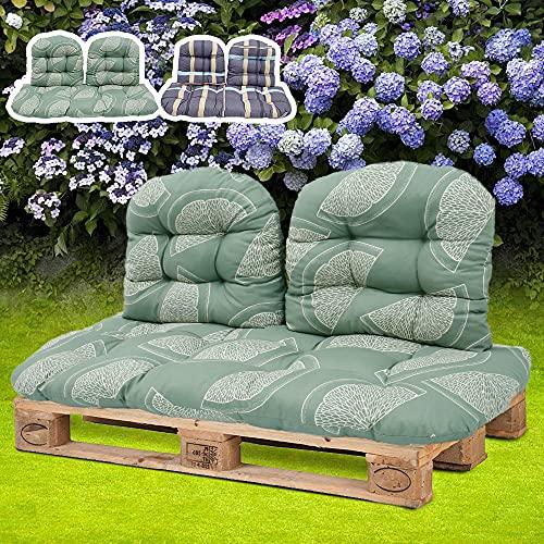 Auflage für Gartenliege 3er Set, Palettenkissen Stuhlkissen Liegestuhl Auflage Gartenstuhlauflagen Rückenkissen Liegenauflage Gartenliege Sonnenliege Kissen Dick Relax Liegestuhl für Innen, Außen