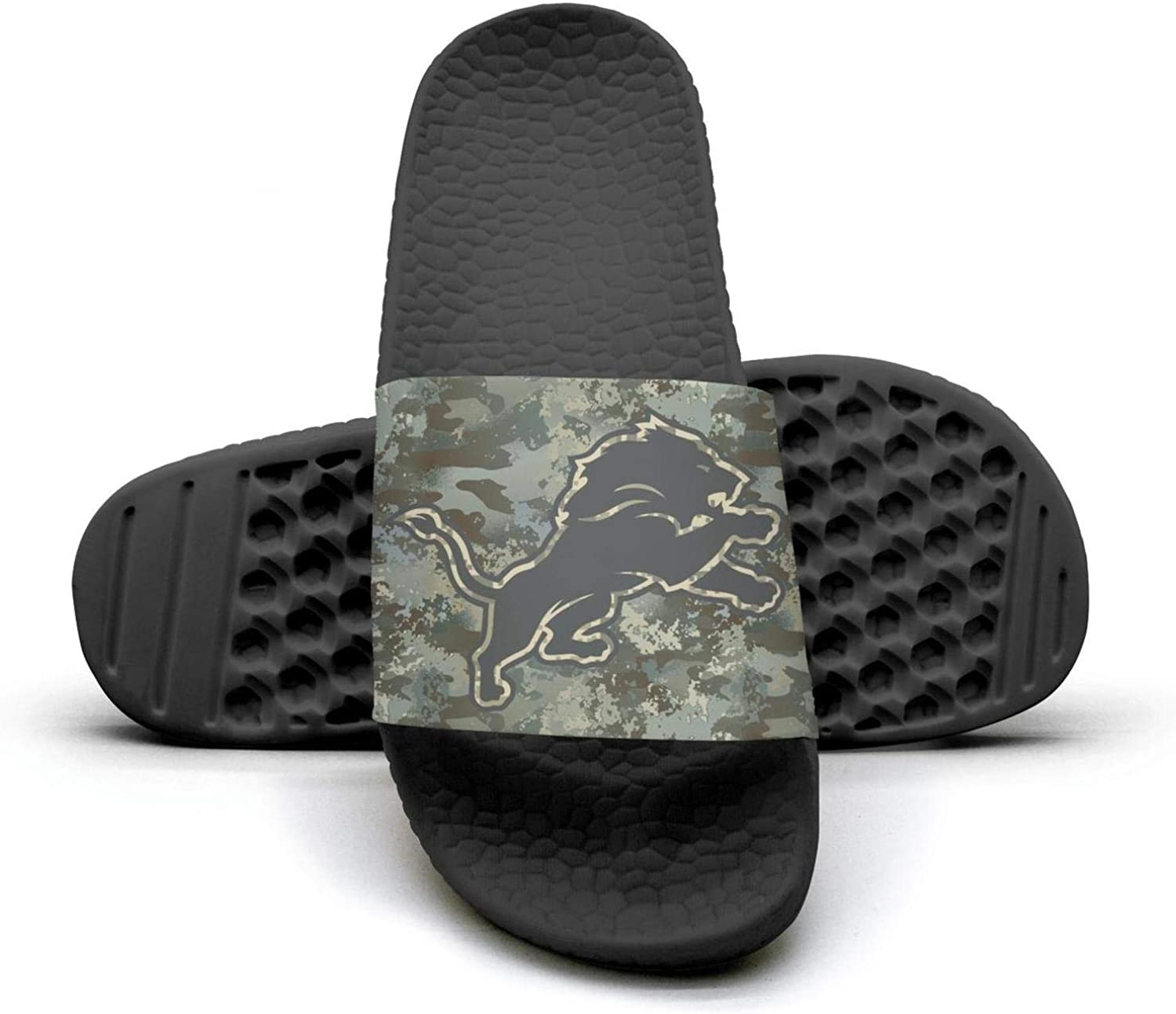 UUTTAA Womens Camouflage Camo Printed Non-Slip Slippers Slide Flip Flop Sandals Summer Soft for Football Fans