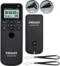 PHOLSY Wireless Timer Remote Control with Intervalometer and HDR Shutter Remote Release for Canon EOS R, EOS RP, 90D, 5D, 6D II, 7D, 7D II; for Olympus E-M1X, E-M1 II; for Fujifilm GFX100, XT3, XT30